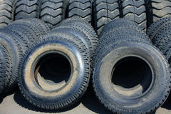 WORN OUT USED TIRES Stock Photography