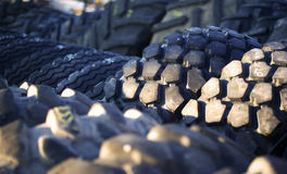 Worn out used tires Stock Image