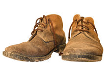 Worn out working boots Stock Image
