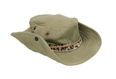 Worn outback hat Stock Photo