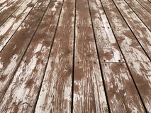 Worn and Peeling Deck Stain Stock Photos