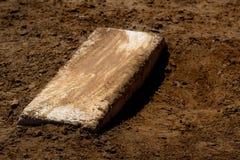 Worn Pitcher`s Mound with Fresh Dirt Baseball. Old worn pitcher`s mound baseball with fresh dirt Royalty Free Stock Photos
