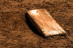 Worn Pitcher`s Mound with Fresh Dirt Baseball. Old worn pitcher`s mound baseball with fresh dirt Royalty Free Stock Photography