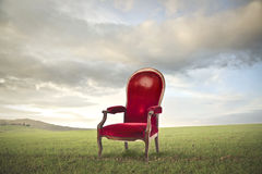 Worn Red Chair Royalty Free Stock Photos