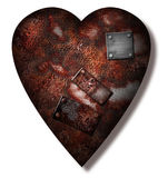 Worn repaired Heart Royalty Free Stock Photography