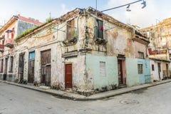 Worn residential building Old Havana Royalty Free Stock Photos