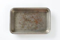 Worn roasting tin Royalty Free Stock Images