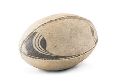 Worn Rugby Ball with Clipping Royalty Free Stock Photography