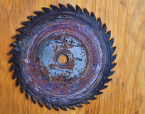 Worn Saw Blade Stock Photography