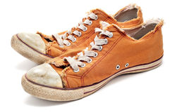 Worn sneakers Royalty Free Stock Photos
