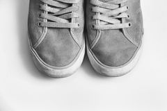 Worn sneakers Stock Photo