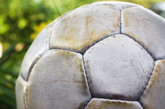 Worn Soccer Ball Royalty Free Stock Images
