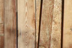 Worn and spaced wooden slats. In the outside royalty free stock photo
