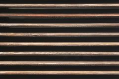 Worn and spaced wooden. Slats stock photos