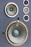 Worn speakers Stock Images