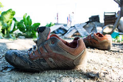 Worn sports shoes Stock Photography