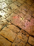 Worn stone floor Royalty Free Stock Images