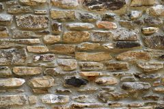 Worn stone wall Stock Images