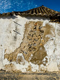 Worn stone wall in a house. Royalty Free Stock Photos