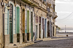 Worn street in old Havana Royalty Free Stock Images