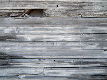 Worn and tattered wood siding Stock Photos