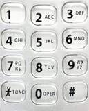 Worn telephone keypad Stock Photography
