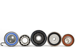 Worn tensioners, pulleys and bearing Royalty Free Stock Photography