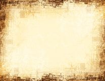 Worn textured grungy border Stock Photography