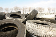 Worn tires Stock Images