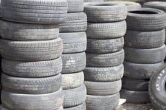 Worn tyre Stock Photos