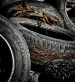 Worn tyres Stock Photo