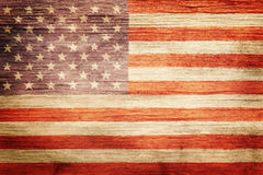 Worn vintage American flag Royalty Free Stock Photo