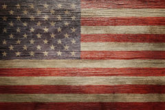 Worn vintage American flag royalty free stock photography