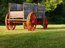 Worn Wagon at Sunrise Stock Photos