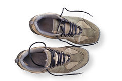Worn walking shoes Royalty Free Stock Photography