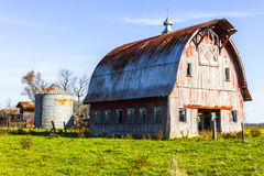Worn and Weathered Corn Farm Barn in Indiana II Royalty Free Stock Photography