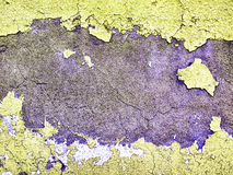 Worn and weathered crusted chipped paint on textured cement Stock Photos
