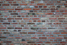 Worn Weathered Dirty Red Brick Wall Background. Texture Royalty Free Stock Photography