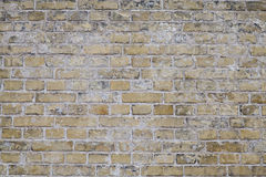 Worn Weathered Dirty Yellow Brick Wall Background Stock Images