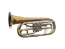 Worn wind instrument Royalty Free Stock Photography