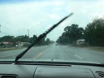 Worn windshield wipers