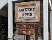 Bakery Open Sign Royalty Free Stock Photos