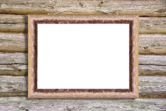 Worn wooden frame Royalty Free Stock Image
