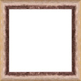 Worn wooden frame. Worn wooden picture frame border with isolated white center Stock Photos