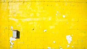 Worn Yellow wall Royalty Free Stock Photo