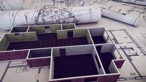 Worplace del arquitecto Imagen de archivo libre de regalías