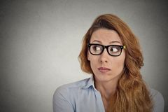 Worried anxious office worker Royalty Free Stock Photo