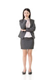 Worried asian business woman Stock Image