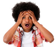 Worried black man Stock Photo