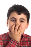 Worried boy Stock Photo